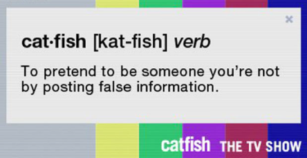 catfish verb